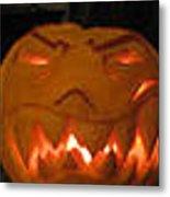 Demented Mister Ullman Pumpkin 2 Metal Print