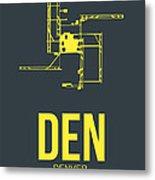 Den Denver Airport Poster 1 Metal Print by Naxart Studio