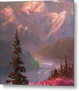 Denali Summer - Alaskan Mountains In Summer Metal Print