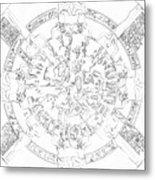 Dendera Zodiac Metal Print