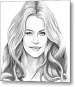Denise Richards Metal Print