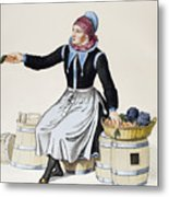 Denmark Vegetable Vendor Metal Print