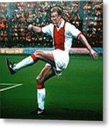 Dennis Bergkamp Ajax Metal Print