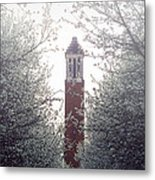 Denny Chimes Foggy Blossoms Metal Print by Ben Shields