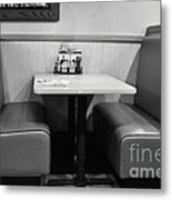 Denny's Booth Metal Print by Andres LaBrada