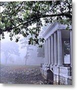 Dense Fog Plymouth Rock Canopy Metal Print
