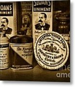 Dentist  -  Tooth Powder And More In Black And White Metal Print
