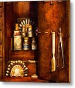 Dentist - The Dental Cabinet Metal Print
