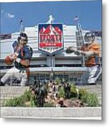 Denver Broncos Sports Authority Field Metal Print by Joe Hamilton