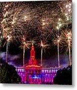 Denver Co 4th Of July Fireworks Metal Print by Teri Virbickis