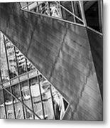 Denver Diagonals Bw Metal Print