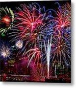 Denver Fireworks Finale Metal Print