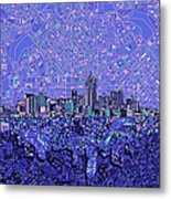 Denver Skyline Abstract 4 Metal Print