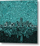 Denver Skyline Abstract 5 Metal Print