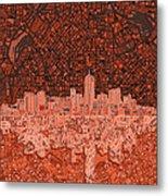 Denver Skyline Abstract 6 Metal Print
