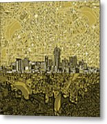 Denver Skyline Abstract 8 Metal Print