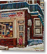 Depanneur Kik Cola Montreal Metal Print