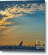 Departing From Ewr  Metal Print