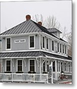 Depot Lodge Metal Print