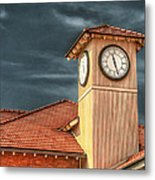 Depot Time Metal Print by Brenda Bryant