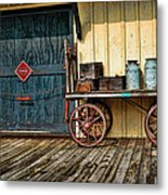 Depot Wagon Metal Print by Kenny Francis