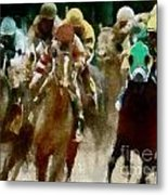 Derby Day One Of Three Metal Print