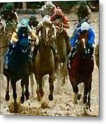 Derby Day Two Of Three Metal Print