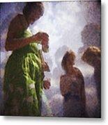 Derby People 1 Water Color 1 Metal Print