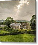 Derbyshire Cottages Metal Print by Amanda Elwell