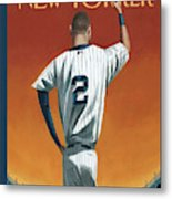 Derek Jeter Bows Out Metal Print