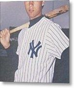 Derek Jeter New York Yankees Metal Print