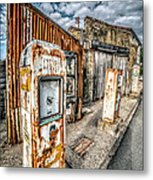 Derelict Gas Station Metal Print by Adrian Evans