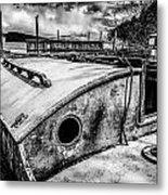Derelict Sailboat Metal Print