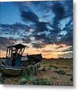Derelict Sunset Metal Print by Matthew Gibson