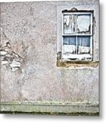 Derelict Window Metal Print