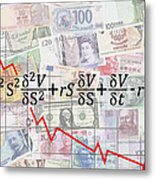 Derivatives Financial Debacle - Black Scholes Equation Metal Print