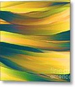 Desert Waves Metal Print by Hilda Lechuga