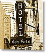 Art Hotel Metal Print