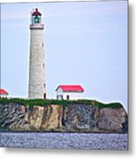 Des-rosiers Lighthouse Is Canada's Tallest In Forillon Np-qc Metal Print