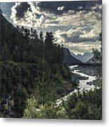 Desaturated Mountainscape Metal Print