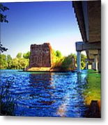 Deschutes Bridge  Anderson Ca  Watercolor   Metal Print