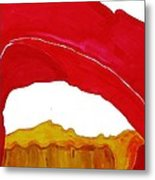 Desert Arch Original Painting Sold Metal Print