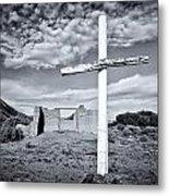 Desert Cross Metal Print