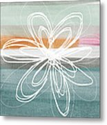 Desert Flower- Contemporary Abstract Flower Painting Metal Print by Linda Woods