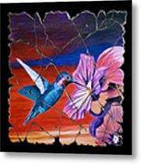 Desert Hummingbird Metal Print