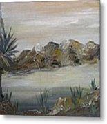 Desert In Monachrome Metal Print