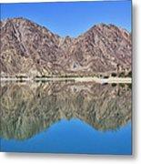 Desert Lake Stillness Metal Print