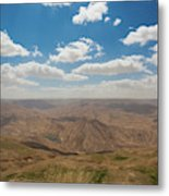 Desert Landscape By The Tannur Dam Metal Print