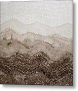 Desert Mountain Mist Original Painting Metal Print