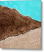 Desert Mountains Original Painting Metal Print